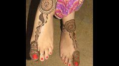 Latest Cute Heena Design for Feet By Jyoti Sachdeva