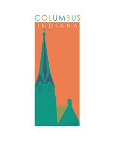 Columbus Indiana First Presbyterian 8 x 10 by tammyappledesign