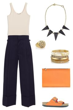 Gem Necklace - Tinkered by by kate-boston on Polyvore featuring Monki, Erika Cavallini Semi-Couture, Birkenstock, Victoria Beckham and sustainable