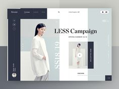 Roxane fashion store - LESS Campaign by Dawid Tomczyk on Dribbble Website Design Layout, Website Design Inspiration, Layout Design, Web Design Agency, App Design, Design Trends, Modern Website, Screen Design, Jobs Apps