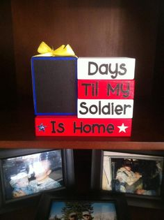 Military Deployment Countdown Blocks by TheLittleBlockShop on Etsy, $28.00