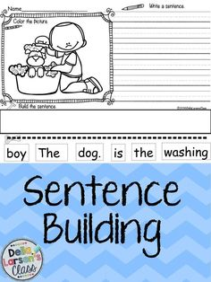 Reading, writing, and building sentences. Perfect NO PREP writing activity for kindergarten centers. Use these with your ELL's to build sentence structure and vocabulary. Perfect for differentiating instruction.