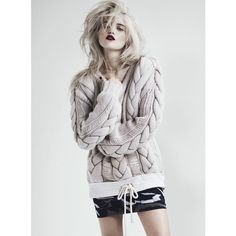Sky Ferreira Poses for Andrew Yee in S Moda March 2013 ❤ liked on Polyvore