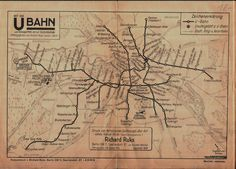 Historical Maps: Berlin S- and U-Bahn Maps, 1910-1936