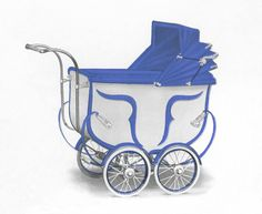 Just look at this wonderful Silver Cross pram dating back to the 1930s. This model is shown in Cream with Wedgewood Blue.