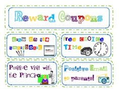 There are 40 reward coupons for the classroom.  These are all items that will cost you NO $money$ to use in your classroom! :)  Some will require your time if you chose to use them like Play Pig with the Teacher or Recess with the Teacher, but I find these rewards as great investment in the student-teacher relationship.Enjoy!