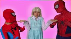 Elsa Spiderman Become Venom Frozen anna Captain Pinks Spidermgirl superm...