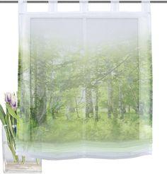 Raffrollo, Home Wohnideen, »NEWCASTLE« ab 33,99€. Transparenter Stoff, Einseitig bedruckt, Echter Voile, Leichte Qualität, mit schönem »Wald«-Motiv bei OTTO