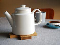 Teema iitala teapot Fika, Cherry Tree, Yukata, White Porcelain, Teapot, Finland, Tea Time, Cups, Pottery