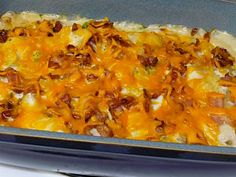 Perogi Casserole : oh, the possibilities. I'm already imagining some great variations on this dish. Like farmer sausage in place of bacon. Perogi Casserole, Casserole Recipes, Noodle Casserole, Casserole Dishes, Great Recipes, Dinner Recipes, Favorite Recipes, Dinner Ideas, Supper Ideas