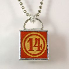 Number 14 Pendant Necklace by XOHandworks $20