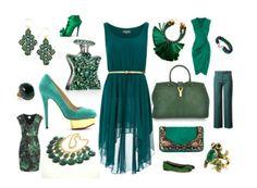 Love all of it!  #pantone #emerald #green #fashion