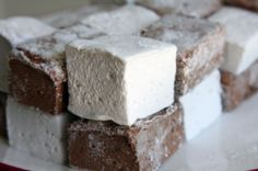 homemade chocolate and vanilla marshmallows