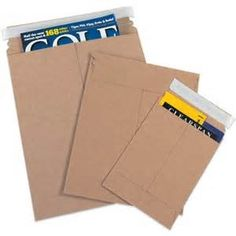 Kraft Self-Seal Flat Mailers over 1000 sizes