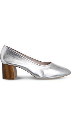 OFFICE - Mia metallic-leather heeled ballet shoes | Selfridges.com
