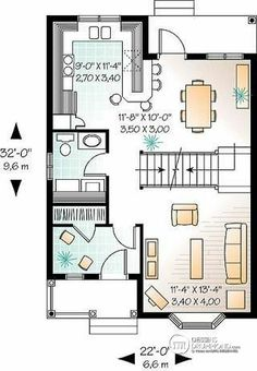 Détail du plan de Maison unifamiliale W1738