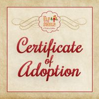 elf on the shelf custom adoption certificate