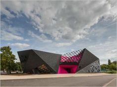 Cultural Center in Mulhouse / Paul Le Quernec - Cultural Architecture Cultural Architecture, Architecture Pliage, Folding Architecture, Architecture Design, Classic Architecture, Facade Design, Futuristic Architecture, Amazing Architecture, Contemporary Architecture