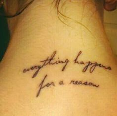 Everything happens for a reason tattoo without the dandelion tattoo everything happens for a reason urmus Image collections