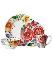Kim Parker 16-Pc. Zinnia Dinnerware Set, Service for 4, Only at Macy's