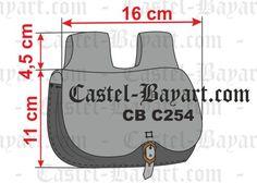 Escarcela medieval en cuero tamaño pequeño - Reproducción histórica de escarcelas