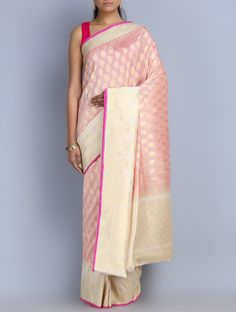 Bespoke Benarasis - Exquisite handwoven six yard creations curated by Omnah, SOLD on Jaypore.