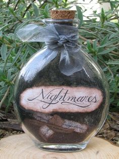 Nightmares - find small things you're afraid of to put in there