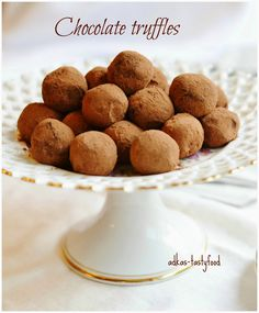 .. chute a vône mojej kuchyne...: Chocolate truffles - Čokoládové truffle