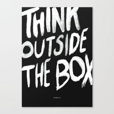 The Box Canvas Print by WRDBNR | Society6