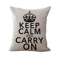 European Retro Crown Cushion Modern Cotton Linen Pillowcase Cushion Cover Decorative Pillow Home Decor Throw Pillow Sofa 45*45