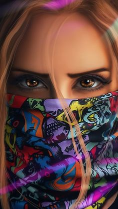Girl Iphone Wallpaper, Cute Girl Wallpaper, Neon Wallpaper, Cartoon Wallpaper, Hipster Wallpaper, Digital Art Girl, Digital Portrait, Portrait Art, Cartoon Girl Images