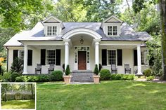 Renovations and Additions — Ross Piper Architect - Home & DIY White Farmhouse Exterior, Colonial Exterior, Southern Style Homes, Exterior Remodel, Home Additions, Home Design Plans, House Goals, Cottage Homes, House Front