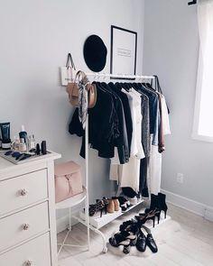 (paid link) DIY Clothes rack bedroom. #clothesrackbedroom