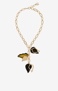 Leaf Chain Necklace Pendant Necklace, Chain, Jewelry, Closet, Jewels, Jewlery, Armoire, Necklaces, Cabinet
