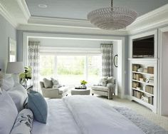Master bedroom with built-in cabinetry