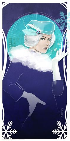 Killer Frost by C100D17 by C100D17 Let it snow! Killer Frost in Mucha Style! @dpanabaker was so fun to draw all in white ^^