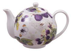 Purple Raspberry Porcelain Teapot