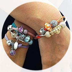 Pandora Charms Jewelry Bracelet Beads Charmed Bangles Jewels Pandoras Box Layered Look