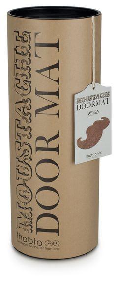 Moustache Doormat Packaging Tube #packaging #tubes #cardboard-tubes