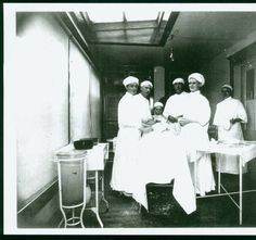 Hospital operating room, Beach, N.D. 1900s