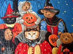 Halloween Quilted Wall or Door Hanging or by KoloaQuiltsandMore,