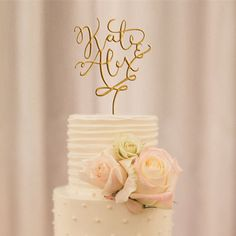 elegant glittery customewedding cake topper EWFT044