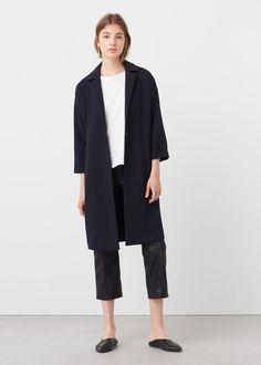 Lapel shift coat | MANGO