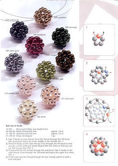 Look what I discovered >> Beaded Jewelry Tutorials Free :) Beaded Beads, Beaded Jewelry Patterns, Beads And Wire, Beading Patterns, Beaded Necklaces, Bracelet Patterns, Beaded Earrings, Netted Bracelet, Free Beading Tutorials