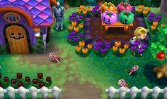 Tammy's Halloween party theme house. Animal Crossing Happy Home Designer 1