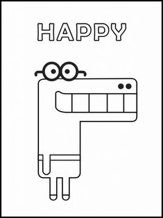 Hey Duggee Happy Coloring Page Online Coloring Pages, Disney Coloring Pages, Coloring For Kids, Colouring Pages, Coloring Books, K Crafts, Hobbies And Crafts, 4th Birthday Parties, Birthday Fun