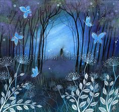 Ein Märchen Kunstdruck. Midnight von Amanda Clark.