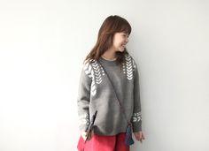 Single Chevron Pattern Sweater