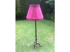 Beautiful three legged hardwood standard lamp Haslemere Picture 1