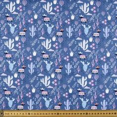 Add a fun and hype design to your marvellous kids theme sews projects with this versatile Kat Kalindi El Ranchos Donkies Printed Poplin Fabric from Printed P.